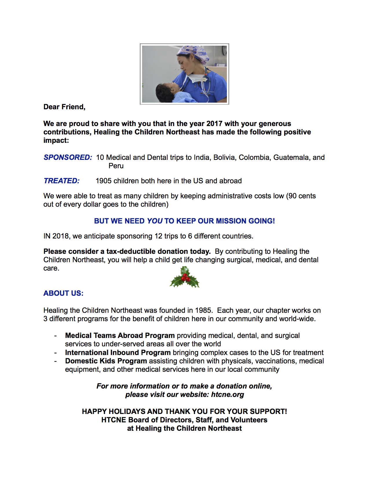 This years appeal letter healing the children northeast inc this years appeal letter thecheapjerseys Gallery